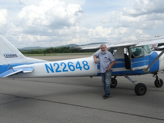 David Hersman with Cessna 150, N22648 after new numbers